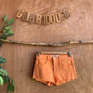 Joe's jeans orange denim jean shorts